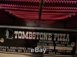 Nova Commercial Pizza Oven N-100 1600w Countertop Stainless Steel Tombstone