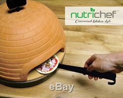 NutriChef Electric Pizza Maker Pit Oven Stove Cooking Countertop Tabletop 1100W
