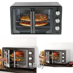 OVEN CONVECTION TOASTER Countertop Bake Broiler Pizza Large Electric Black Oster