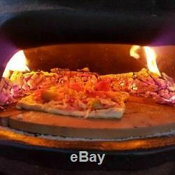 Outdoor Pizza Oven Wood Fire Backyard Rustic Clay Oven Patio Portable Countertop