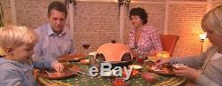 Outdoor Tabletop Mini Pizza Oven Fired Terracotta Dome Countertop 4 Person Model