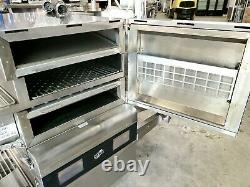 Ovention Matchbox Ventless M1718 Double Stack Conveyor Pizza Impingement Ovens