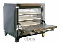 Peerless CE131PE Single Door Three Shelf Countertop Deck Electric Pizza Ovens