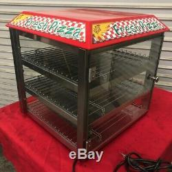Pizza Display Warmer 3 Shelf Triple Deck 120V Fuzion Lighted Cabinet #2970