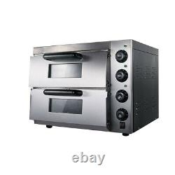Pizza Oven Countertop Convection Oven with Pizza Stone Stainless Steel 3000W