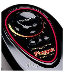 Pizza Oven, Presto Pizzazz Plus Rotating Countertop Maker Cooker with Nonstick Pan
