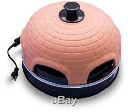 Pizzarette 6 Person Countertop Mini Pizza Oven with Real Terracotta Dome and