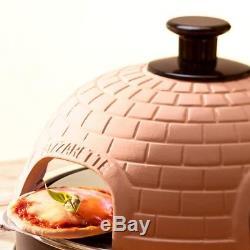 Pizzarette Mini Pizza Oven 6 Person Countertop Cooking Stone Terracotta Dome
