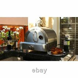 Portable Pizza Oven Propane Gas Silver Stainless Steel Commercial Countertop