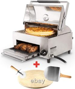 Portable Steak Grill Outdoor Pizza Oven Stainless Steel Double Cooking Design