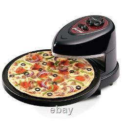 Presto Pizzazz Plus Rotating Pizza Oven 1235 Watts Built-In Timer Non Stick Pan