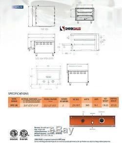 Sierra Range SRPO-24E Countertop Electric Pizza Oven with Ceramic Decks