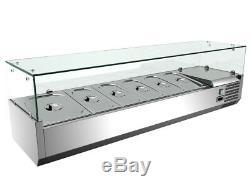 TECHTONGDA 110V 59 Refrigerated Countertop Sandwich Prep / Pizza Prep table New