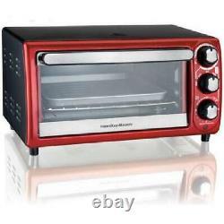 Toaster Oven Mini 5 Settings 4 Slice Toast Bake Broil 9 Pizza Countertop