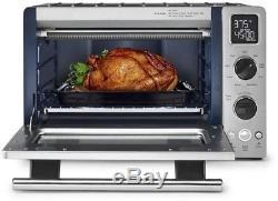 Toaster Oven Stainless Steel Kitchen Convection Countertop Pizza Broiling Baking