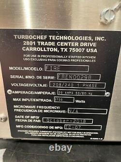 TurboChef Fire Countertop Pizza Oven Excellent Condition Under Warranty