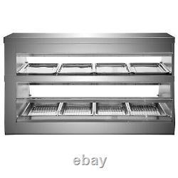 VEVOR 60 Food Court Restaurant Heated Food Pizza Display Warmer Cabinet Case