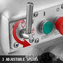VEVOR Commercial 20Qt Dough Food Mixer 3 Speed Gear Driven Pizza Bakery 750W