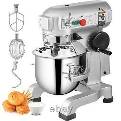 VEVOR Commercial Dough Food Mixer Gear Driven 10 Qt 450W 3 Speed Pizza Bakery