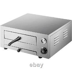 VEVOR Electric Pizza Oven 12 Commercial Pizza Oven 1450W Baking Stainless Steel