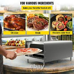 VEVOR Outdoor Pizza Oven Portable Pizza Oven Wood Pellet Fire Stainless Steel