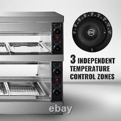 VEVOR Pizza Warmer Display Case Pretzel Warmer 2-Tier 60-inch Display Warmer
