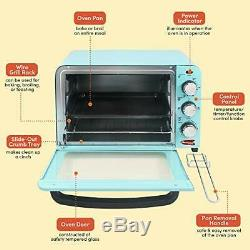 Vintage Diner 50s Retro 12 Pizza XL Countertop Toaster Oven Bake Broil Adjust