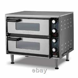 Waring WPO350 Countertop Pizza Oven Double Deck, 240v/1ph