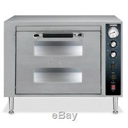 Waring WPO700 Double Deck Countertop Pizza Oven, One Door