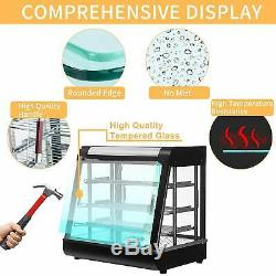 Warmer Pizza Food Heated 3 Tiers Display Case Cabinet Countertop Commercial USA