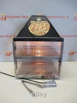Wisco 680-1 Countertop Pizza Display Food Warmer Heated Cabinet 2 Shelf 120V