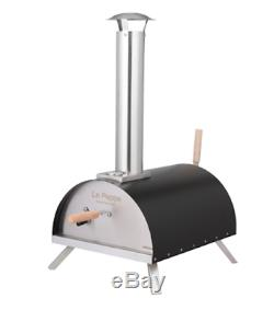 Wood Fired Pizza Oven Countertop Steel Portable Outdoor Backyard Patio Cooking