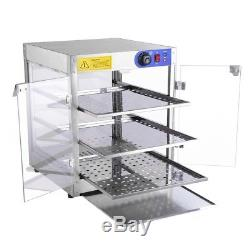 Yescom 110V Commercial Countertop Heating Food Pizza Warmer 750W 24x20x20 Pastr
